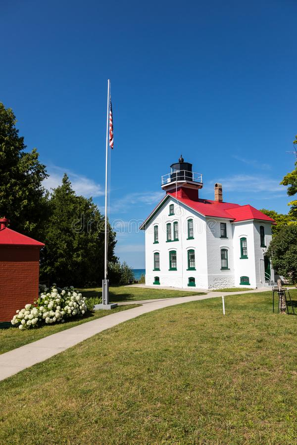 Luz transversal magnífica en la península de Leelanau, Michigan foto de archivo libre de regalías