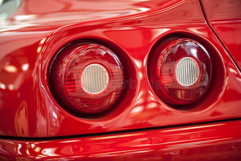 Luz traseira de um carro moderno fotografia de stock