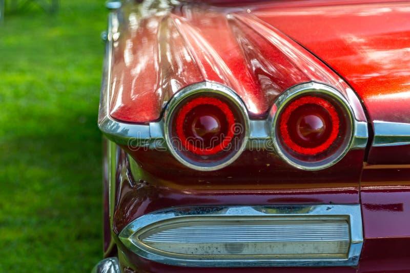 Luz trasera del automóvil del vintage fotos de archivo