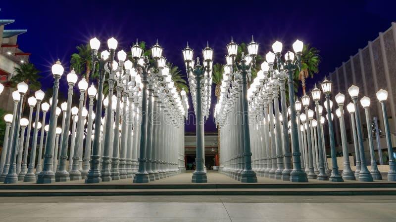 Luz urbana, Los Angeles imagem de stock