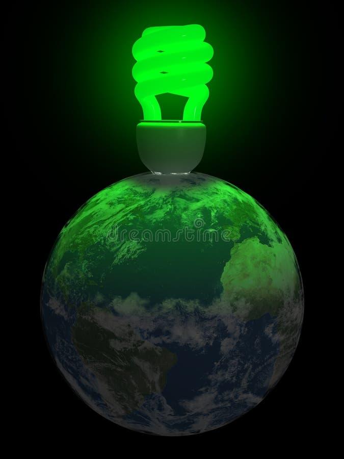Luz verde de la tierra stock de ilustración