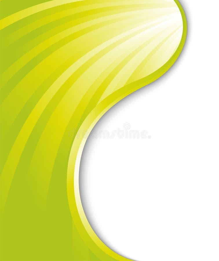 Luz verde - tarjeta abstracta libre illustration