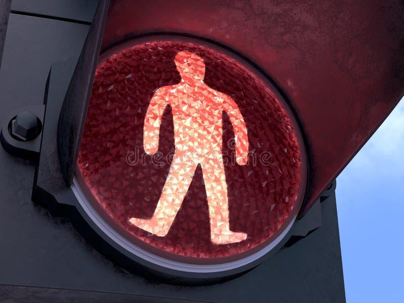 Luz Vermelha Pedestre Imagens de Stock Royalty Free
