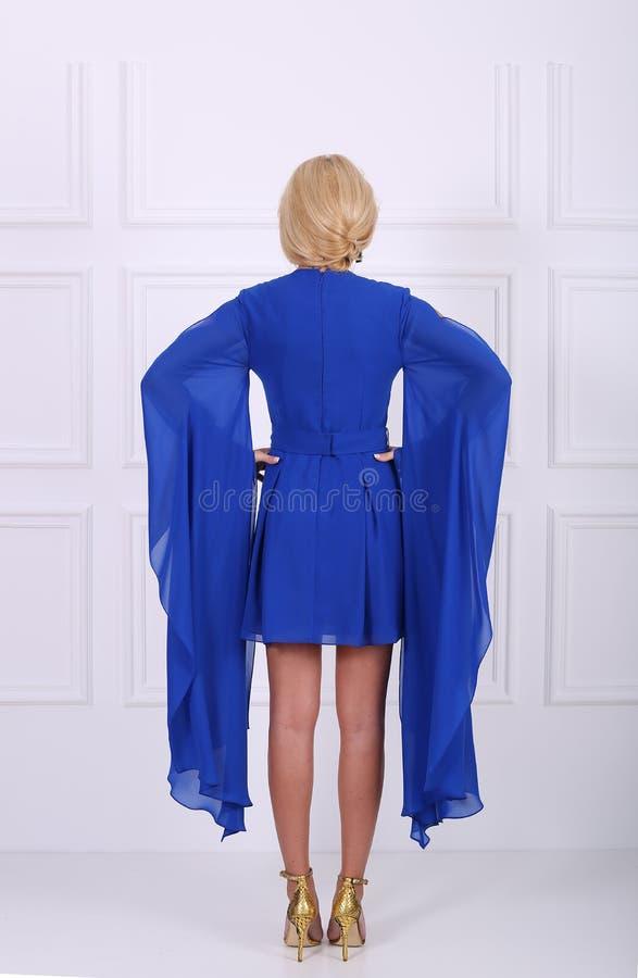 Luz - vestido azul fotos de stock