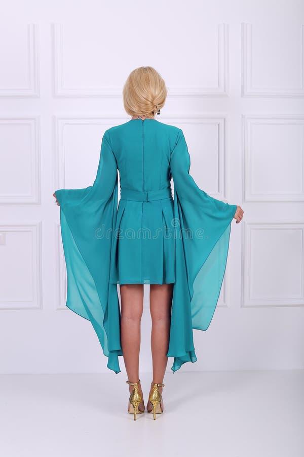 Luz - vestido azul imagens de stock royalty free