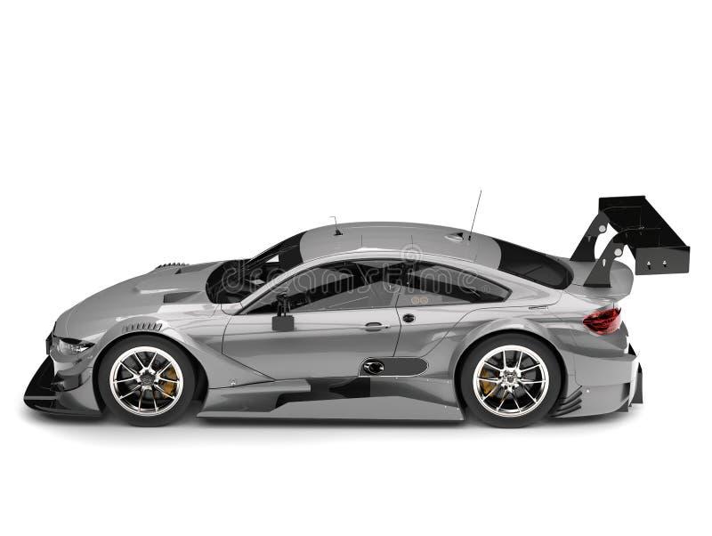 Luz - vista lateral automobilístico super moderna cinzenta ilustração royalty free