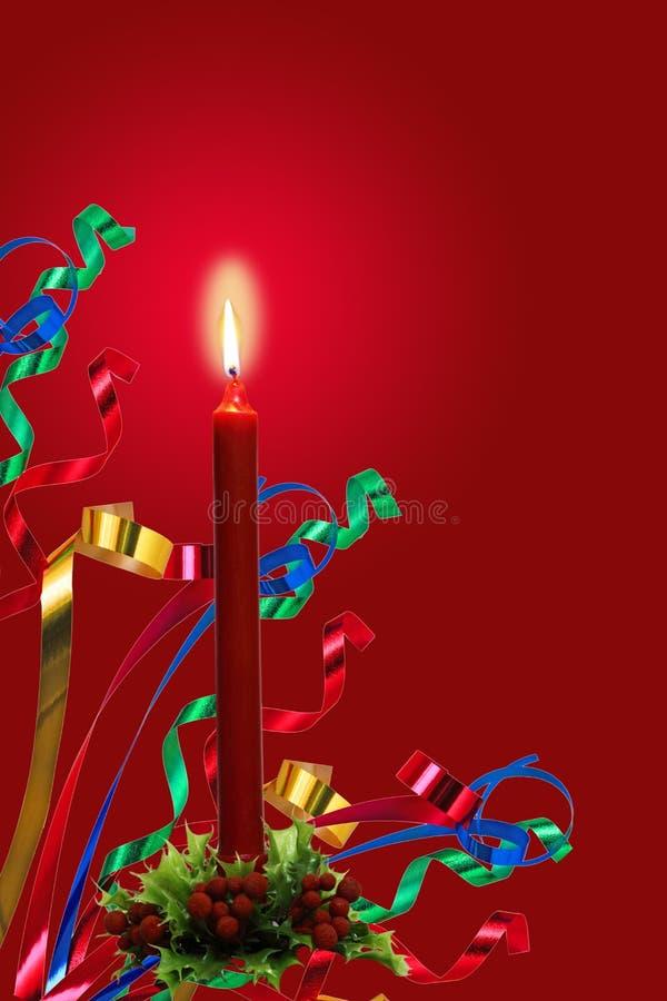 Luz y cintas de la vela imagenes de archivo