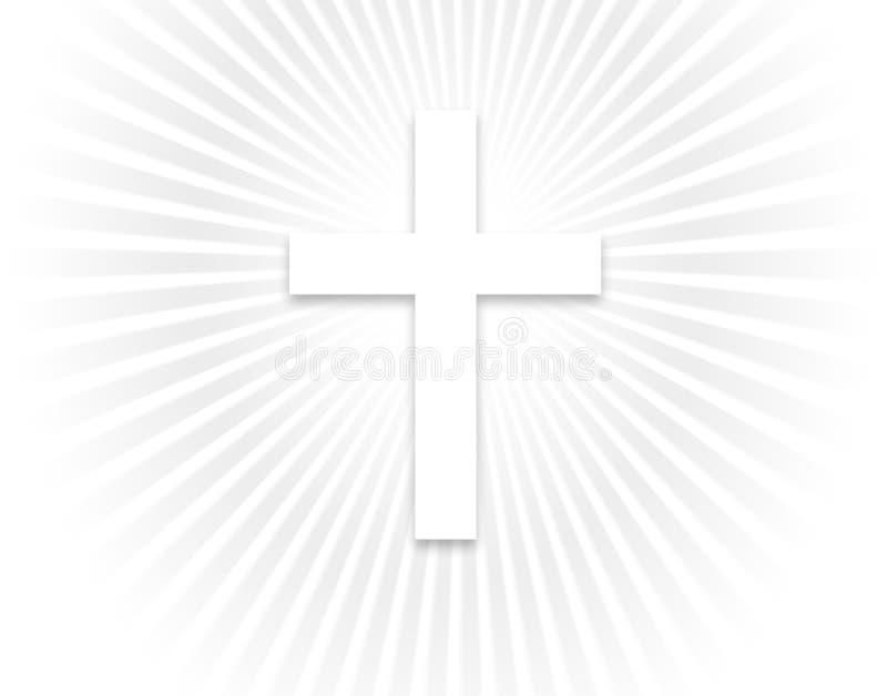 Luz y cruz celestes stock de ilustración