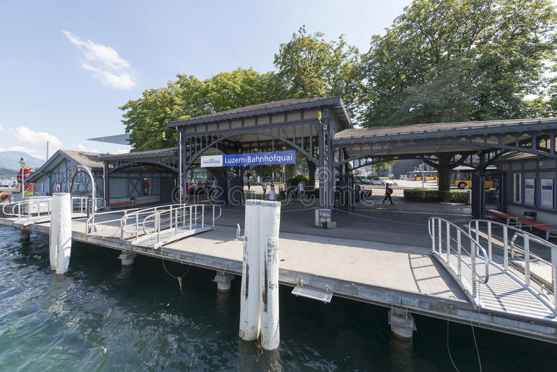 Luzern central boat station. The central boat station in Luzern, Switzerland stock photography