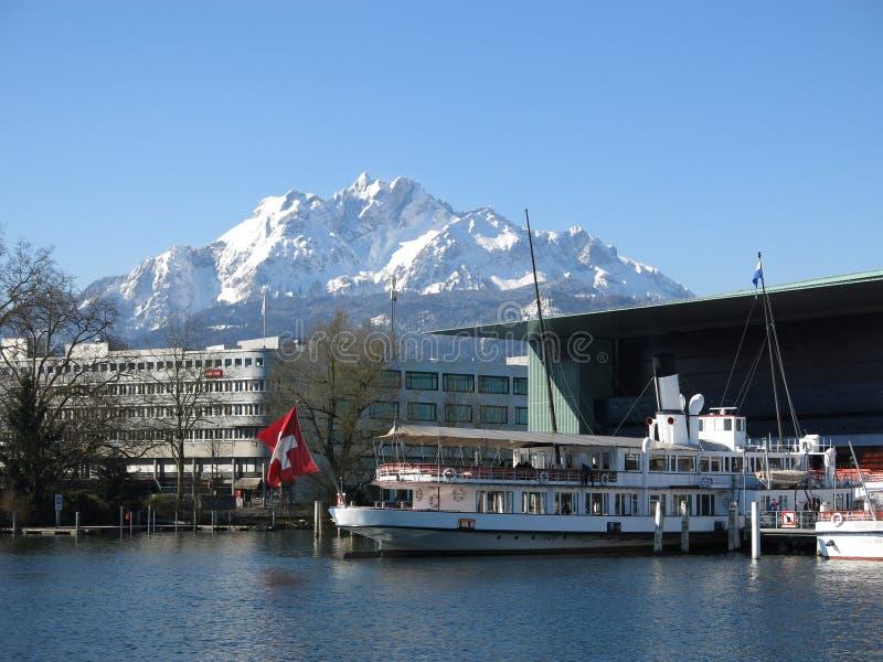 Luzern/Lucerne, Schweiz royaltyfri foto