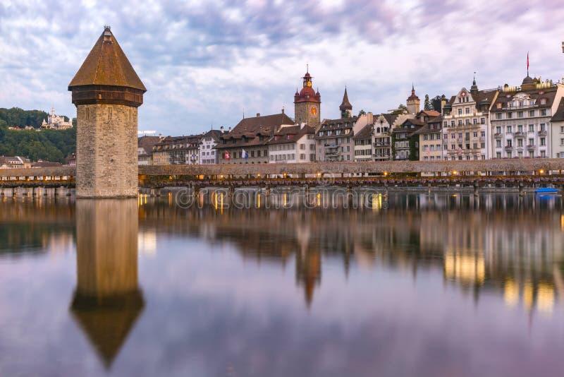 Luzerne au lever de soleil, Suisse images libres de droits
