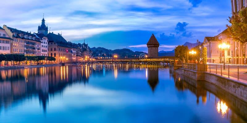 Luzerne au lever de soleil, Suisse photos libres de droits