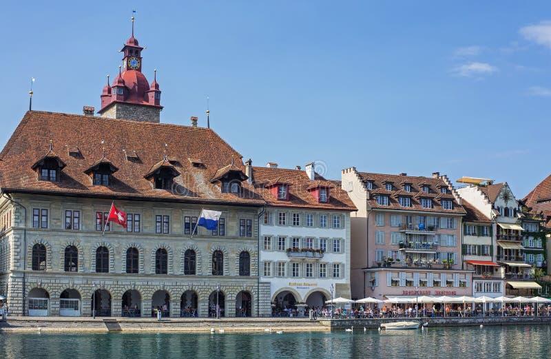 Luzerne-cityscape royalty-vrije stock fotografie