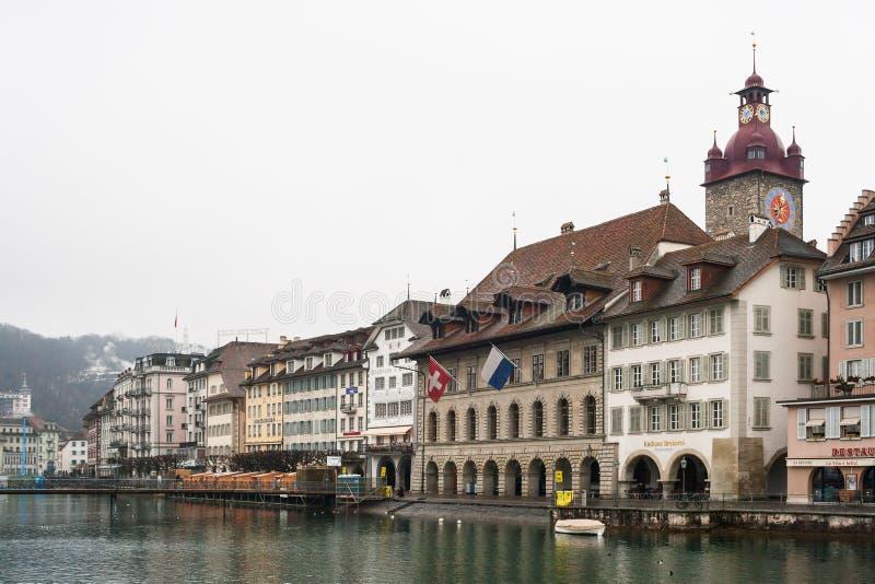 Luzerne in de winter stock foto's