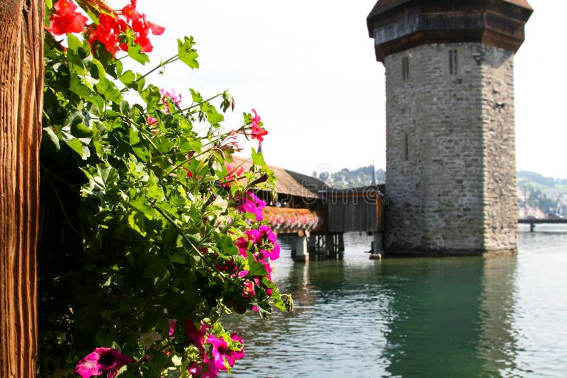 Luzerne-Kapelbrug stock fotografie