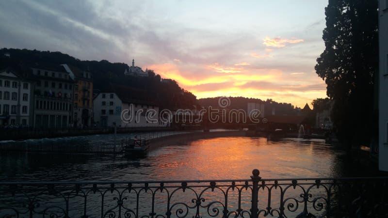 Luzerne-meer royalty-vrije stock afbeelding