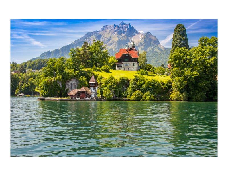 Luzerne-meer Zwitserland stock fotografie