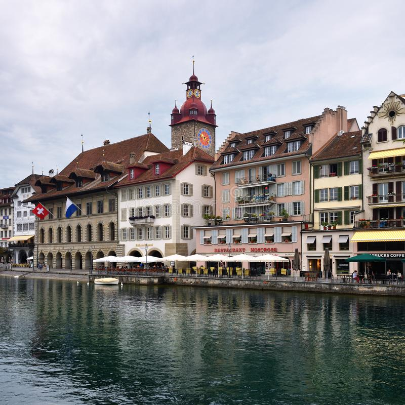 Luzerne in Zwitserland royalty-vrije stock afbeeldingen