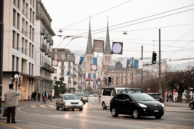 Luzerne, Zwitserland royalty-vrije stock afbeelding