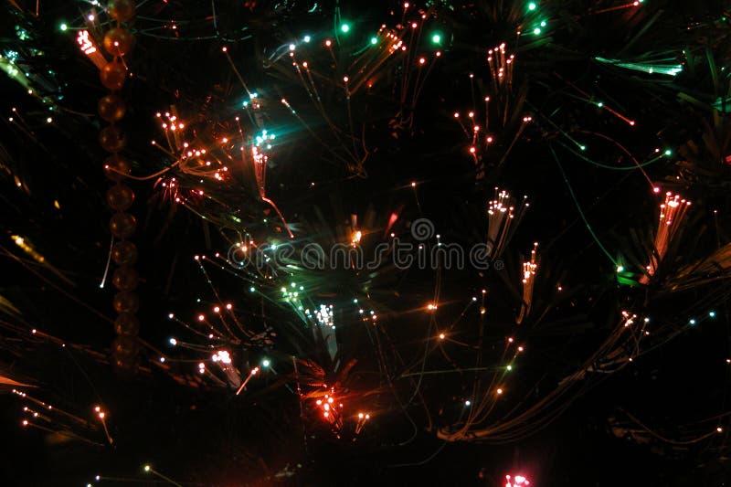 Luzes 1 da fibra óptica imagem de stock royalty free