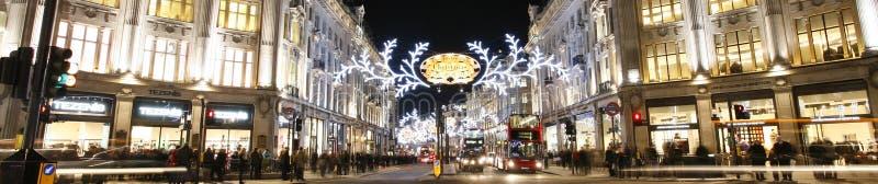 Luzes 2012 de Natal na rua de Londres imagem de stock royalty free