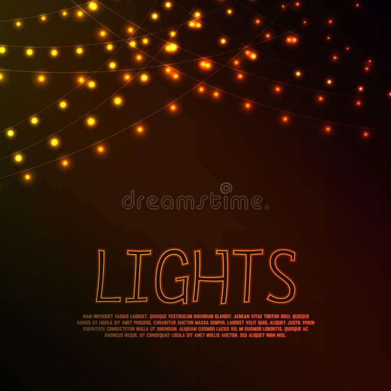 luzes ilustração royalty free