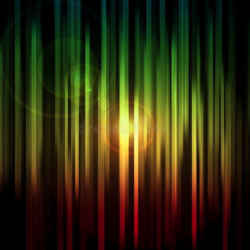 Luzes abstratas ilustração do vetor