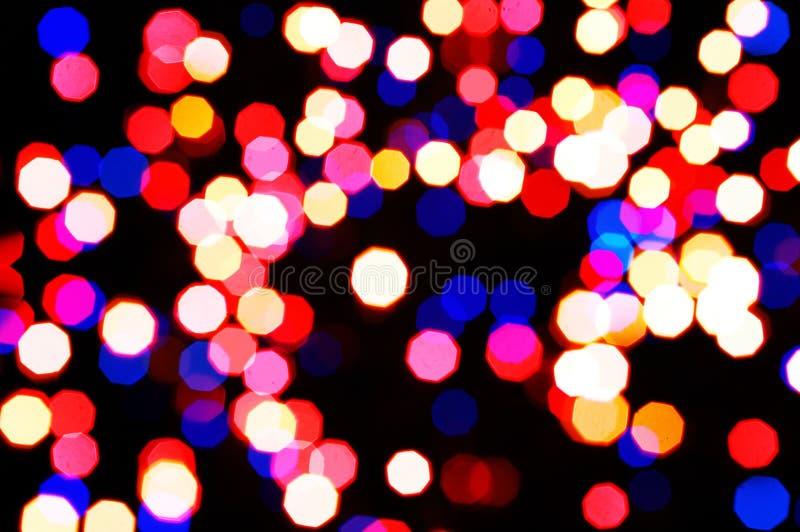 Luzes abstratas coloridas do feriado imagens de stock