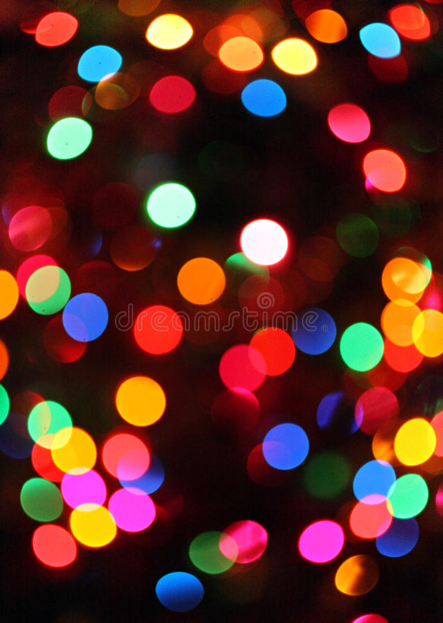 Luzes abstratas dos christamas imagens de stock