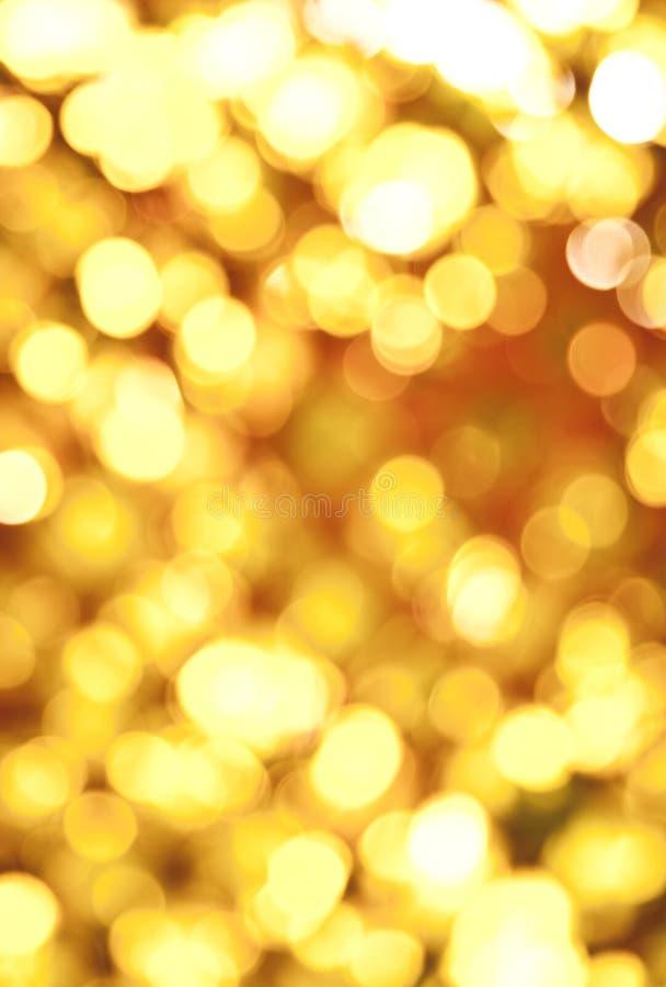 Luzes abstratas douradas foto de stock