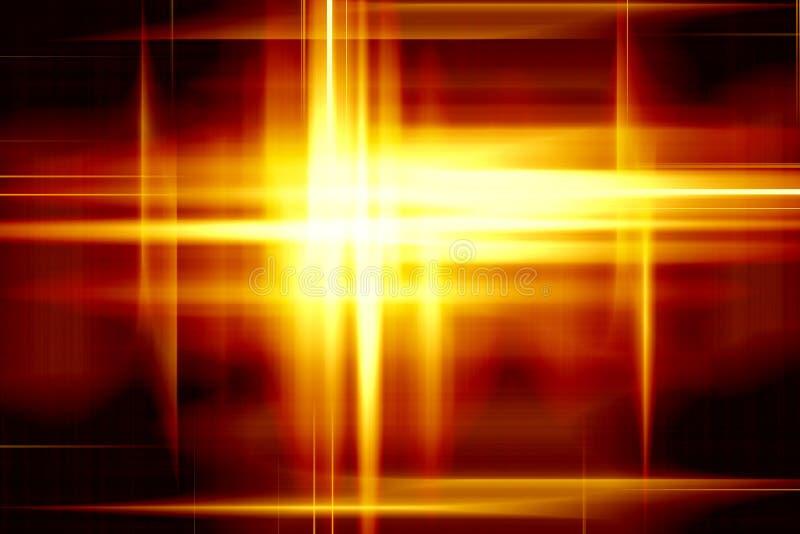 Luzes amarelas ilustração do vetor