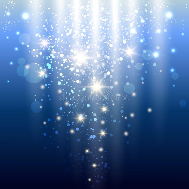 Luzes azuis ilustração royalty free