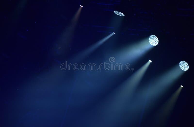 Luzes azuis da fase, mostra clara imagens de stock royalty free