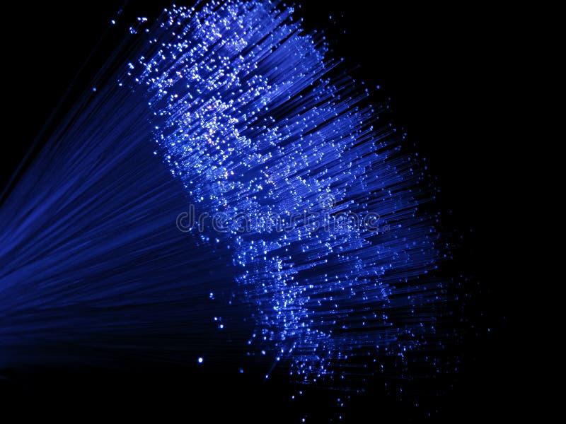 Luzes azuis da fibra óptica imagens de stock royalty free