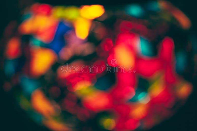 Luzes borradas coloridas Luzes de Natal Defocused como o fundo Luzes coloridos abstratas fotografia de stock
