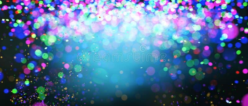 Luzes borradas coloridas do sumário para o fundo festivo ilustração stock