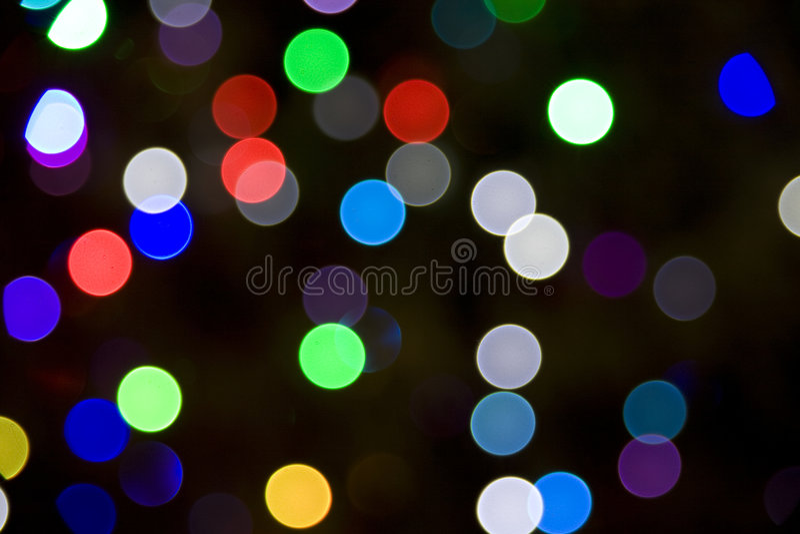 Luzes borradas da árvore de Natal fotografia de stock royalty free