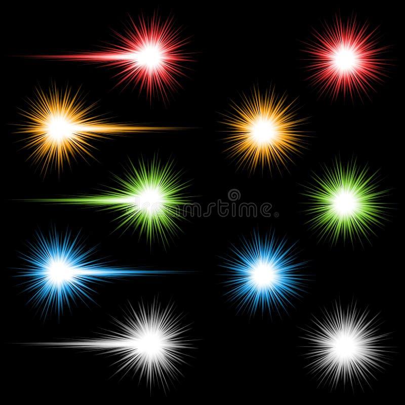 Luzes coloridas ilustração stock