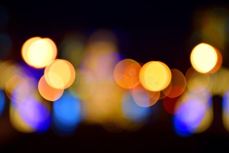 Luzes coloridas borradas fotos de stock royalty free