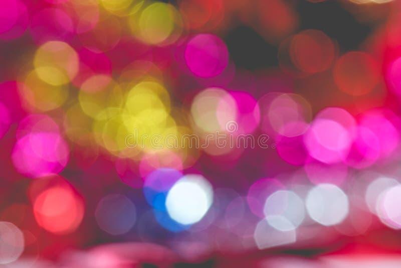 Luzes coloridas do bokeh do Natal imagem de stock