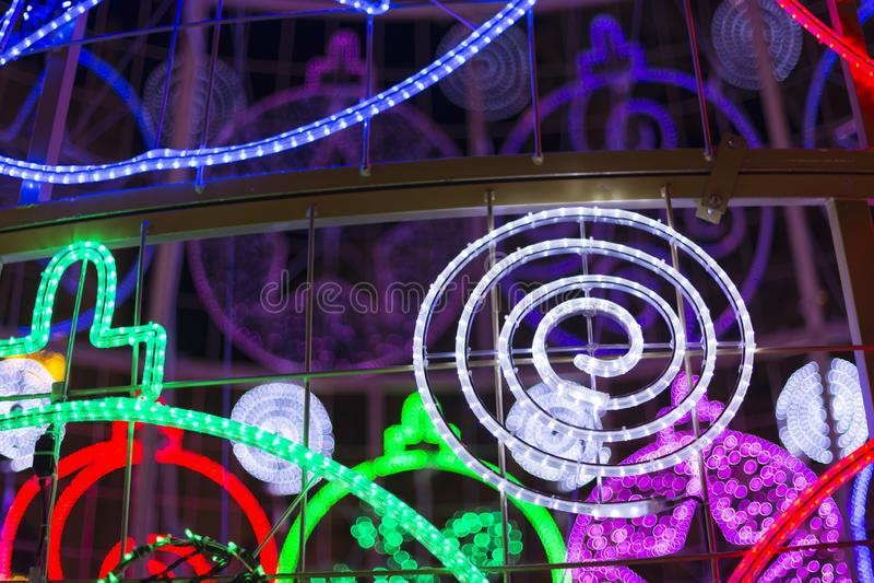 Luzes conduzidas da árvore de Natal foto de stock royalty free