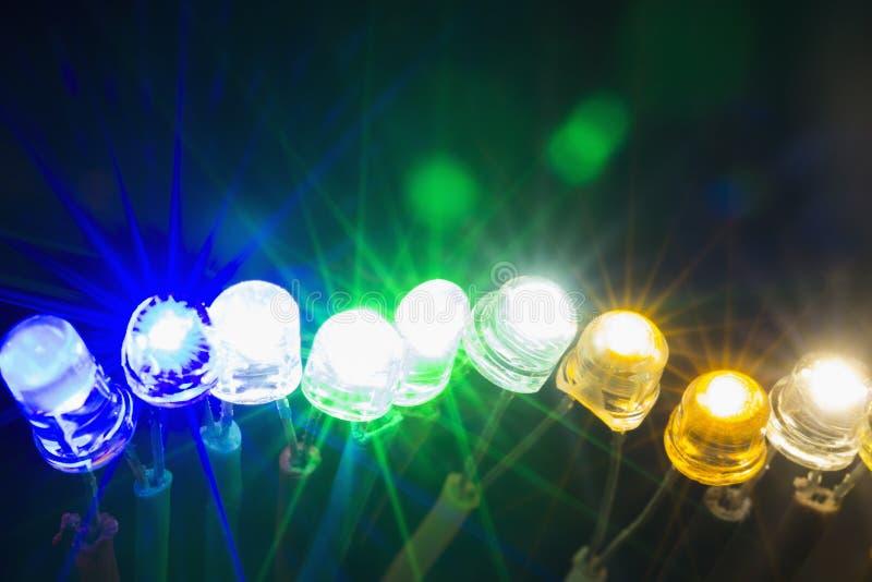 Luzes conduzidas de brilho foto de stock royalty free