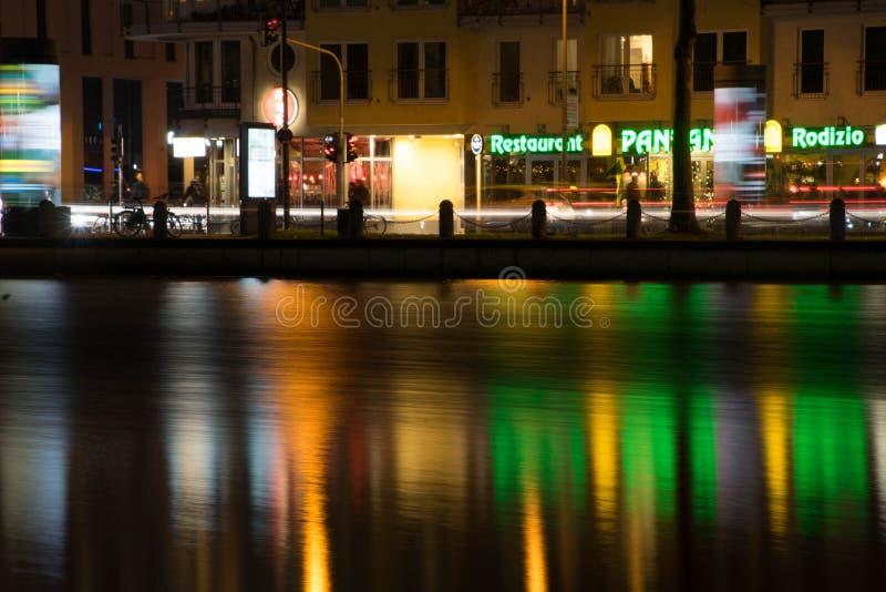 Luzes da água de Colônia imagens de stock royalty free