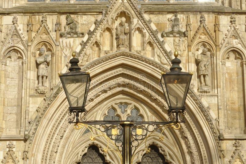 Luzes da catedral da igreja de York, North Yorkshire, Inglaterra imagens de stock royalty free