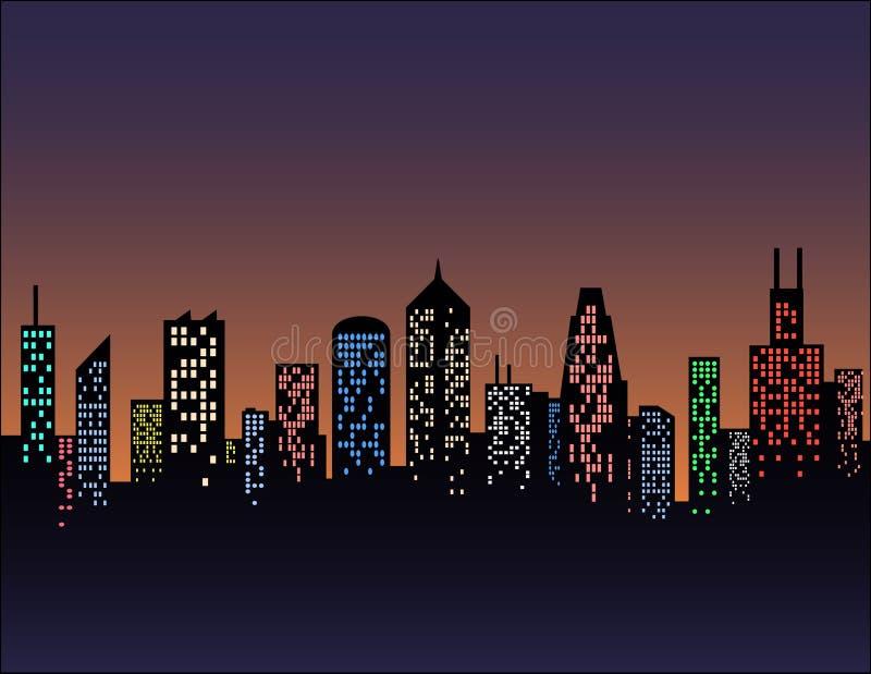 Luzes da cidade ilustração do vetor
