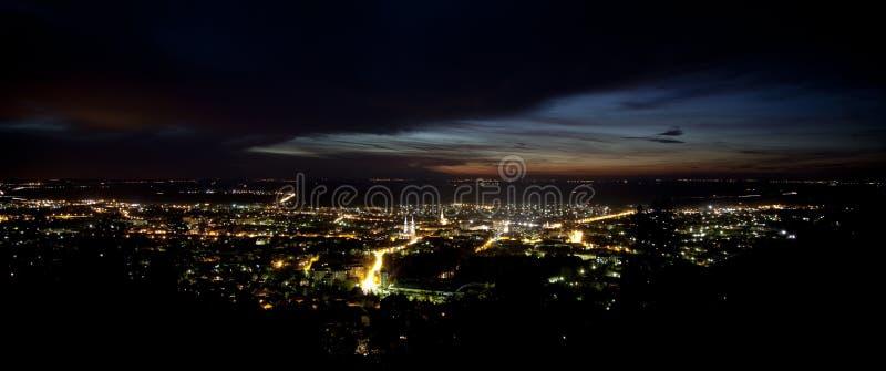 Luzes da cidade fotos de stock royalty free