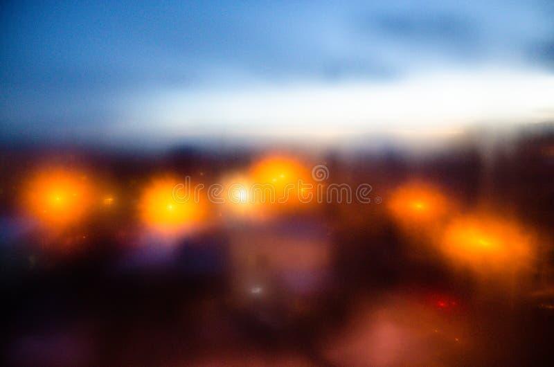 Luzes da cidade imagens de stock royalty free