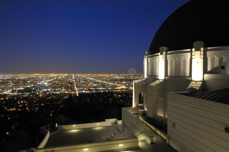 Luzes da cidade de Los Angeles imagem de stock