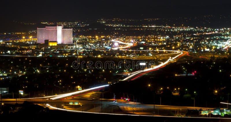 Luzes da cidade de Reno fotos de stock