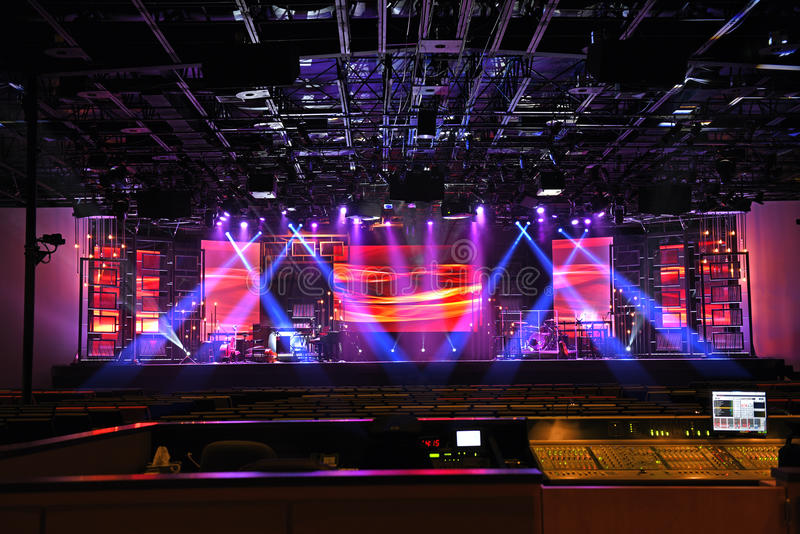 Luzes da fase do concerto fotos de stock royalty free